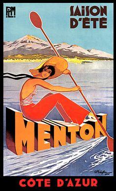 Chemins de fer de Paris à Lyon et à la Méditerranée ~ Menton ~ Côte d'Azur ~ France