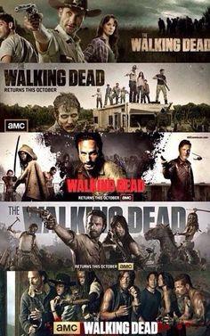 The Walking Dead. Season 1-5 Promotional Posters