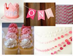 Pink Ombre Baby Girl First Birthday Party  www.themilehighmom.com