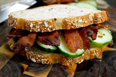 The Bacon and Cucumbeer Sandwhich, a lazy night dinner, became my absolute favorite sandwich ever.
