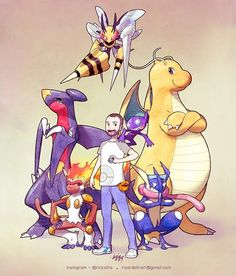 Travis Boehman and his Pokémon team. Order for the trainer The waiting list for will open in AUGUST. Oc Pokemon, Cute Pokemon, Pokemon Cards, Pokemon Fusion, Pokemon Images, Pokemon Pictures, Character Concept, Character Design, Pikachu