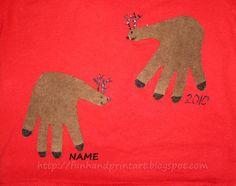 Handprint shirts for christmas