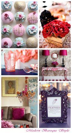 Modern Baroque Style ~ Wedding Inspiration