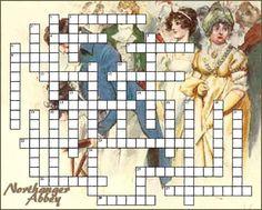 Crossword puzzle: Northanger Abbey