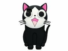 3D Cat Silicone Soft Back Cover Case for Apple iPhone 4 G 4S Black:Amazon:Cell Phones & Accessories