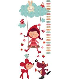 vinilo infantil medidor caperufeliz Little Red Ridding Hood, Red Riding Hood, Hand Embroidery Stitches, Cute Illustration, Vinyl, Girl Room, Vintage Posters, Fairy Tales, Clip Art