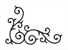 kitchen, corners for chalkboard? - Wrought Iron Corner Swirl MEDIUM by holly on Etsy, $16.00