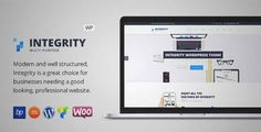 Download and review of Integrity - Responsive Business WordPress Theme, one of the best Themeforest Corporative themes