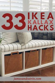 33 Stunning Ikea Kallax Hacks for Really Small Budgets The Kallax is one of Ikea's most versatile pieces of furniture and perfect for hacking. There are so many great ideas for Ikea Kallax hacks Eco Furniture, Ikea Furniture Hacks, Ikea Hacks, Diy Hacks, Ikea Kallax Hack, Ikea Malm, Ikea I, Best Ikea, Ikea Home