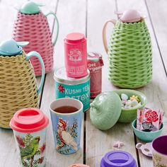 Thermo with Plastic Weave in Pink and Green 1 L.