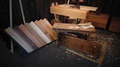 Espositore legni e panchetta