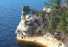 Miners Castle. Pictured Rocks, Lake Superior. We walked out onto this before it became a National Lakeshore.