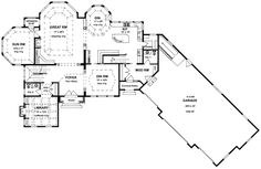 First Floor Plan of Traditional   House Plan 94172