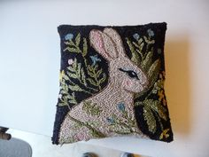 Primitive Bunny Punch Needle Pattern by auntieb56 on Etsy, $12.00