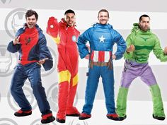 Start a comfy cosplay trend with these wearable Marvel sleeping bags that look like Spider-Man, Iron Man, Captain America and the Incredible Hulk.