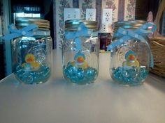 Pinterest Baby Shower Ideas For Boys | Baby Boy Rubber Duck Baby Shower Decor | Party Ideas- baby boy or ele ...