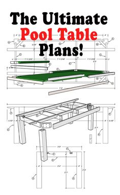 Extra detailed plans followed by perfect illustrated assembly instructions makes this book the easiest in the world guide to follow if you want to build a pool table for your home with MDF playing surface.