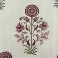 Hand Block Print Decorative Cotton Voile Fabric Craft Sewing Supplies By The Yar