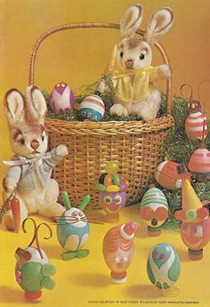 Vintage easter basket, march 1969