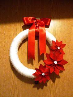 """RIBARTES: """"Poinsettias Christmas Wreath"""" - Coroa de Natal!"""