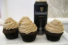 Guinness Buttercream Frosting- Surprisingly Delicious! Highly recommended. I added about a tbsp of guinness at a time and tasted until I liked the flavor