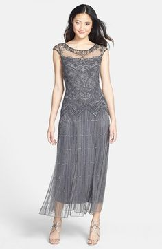 Wish they carried this in my size Pisarro Nights Illusion Beaded Mesh Dress available at #Nordstrom