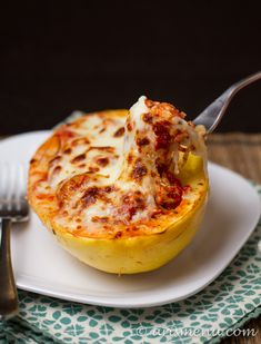 Lasagna Stuffed Spaghetti Squash by arismenu #Lasagna #Spaghetti_Squash #Healthy #GF: I need more spaghetti squash recipes!