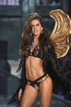 Model Izabel Goulart from Brazil walks the runway during the 2015 Victoria's Secret Fashion Show at Lexington Avenue Armory on November 10, 2015 in New York City.