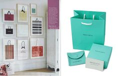 Love this idea for my closet-room! A brag-worthy shopping bag should be shown off!