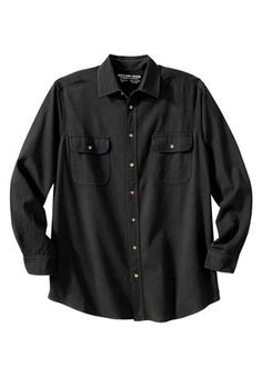 Long-Sleeve Denim Shirt by Boulder Creek®