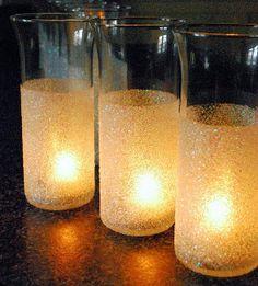 Glitter Vase Mod Podge Crafts   AllFreeDIYWeddings.com