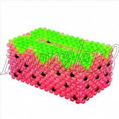 Beaded-weaving Strawbery Tissue Box Holder Napkin Box Holder 3Dbeadwork