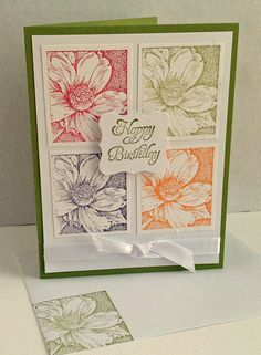 Happy Birthday!   Elementary Elegance and Nature's Wonders - Stampin' Up!