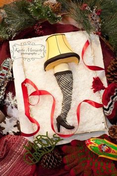 a christmas story leg lamp cake cake by sugarmommas custom cakes - Christmas Story Decorations