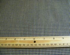 1 Yard Cotton Homespun Blue And Cream Check Fabric