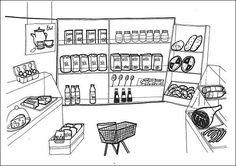 Situační obrázky - Obchod potraviny