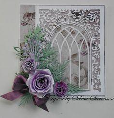 12/4//2012; Selma Stevenson at 'Selma's Stamping Corner' blog; Cherry Lynn and Poppy Stamps dies; BEAUTIFUL!