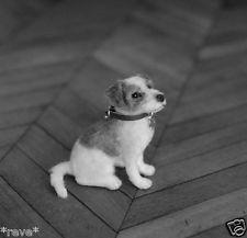 OOAK Realistic Miniature ~ Jack Russell Terrier Dog ~ Handmade Dollhouse 1:12. By Reve.