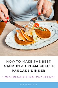 """Discover some of the best """"pancakes for dinner recipes,"""" along with ideas for what to serve as side dishes and where to find the best healthy pancakes mix! Healthy Pancake Mix, Vegan Pancake Recipes, Vegan Recipes Easy, Dinner Entrees, Dinner Recipes, Pancakes For Dinner, Evening Meals, Food Inspiration, Beginner Vegetarian"""