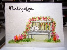 Zoey and the furballs: Another Art Impression Watercolor Sympathy Card