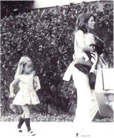 Photo of Young mother and lovely daughter for fans of Priscilla Presley and Lisa Marie Presley. I love them