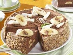 Kakaový dort s banány