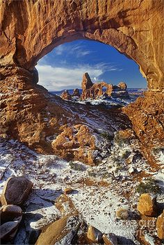 zzTurret Arch through North Window Arches National Park - Utah