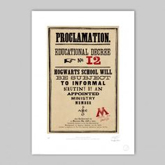 MinaLima - Proclamation No.12