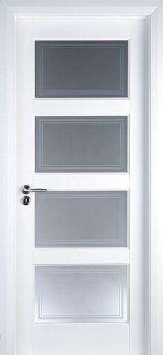 Contemporary Interior Doors contemporary 4 panel white primed door (40mm) | internal doors