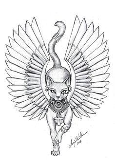 So, I redrew my most popular drawing, Bastet tattoo desing. Again, if you feel like this is something you want on your skin, go ahead, enjoy it