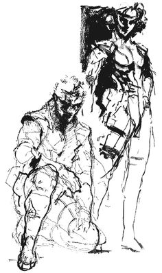 Snake & Meryl Sketch, Metal Gear Solid 1