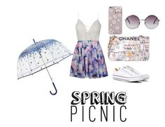 """Spring"" by kawaiistrawberri ❤ liked on Polyvore featuring Ally Fashion, Converse, Chanel, Monki and Vera Bradley"