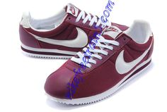 Nike Classic Cortez Nylon Burgundy White 354698 600