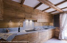 contemporary mountain kitchen by Arte Rovere Antico || Photo by Duilio Beltramone for Sgsm.it ||